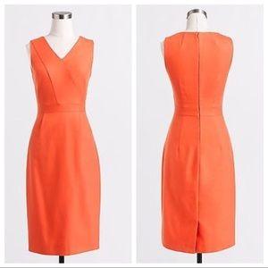 •J. Crew• Orange Suiting Dress